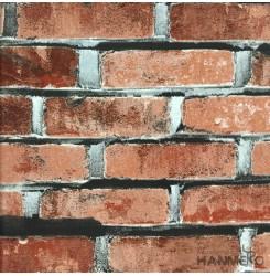 Hanmero Home Decoration Orange Brick Chinese Style Vinyl Embossed Wallpaper 0.53...