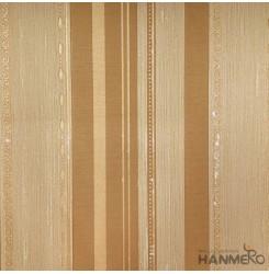 Hanmero Home Decoration Brown Stripes Modern Vinyl Embossed Wallpaper 0.53*10M/R...