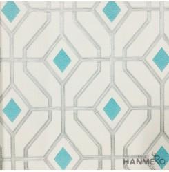 Hanmero Home Decoration Beige Geometric Modern Vinyl Embossed Wallpaper 0.53*10M...