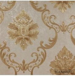 Hanmero Home Decoration Brown Flowers European Vinyl Embossed Wallpaper 0.53*10M...