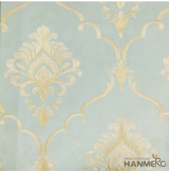 Hanmero Home Decoration Green Floral European Vinyl Embossed Wallpaper 0.53*10M...