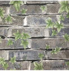 Hanmero Home Decoration Dark Grey Brick Pastoral Vinyl Embossed Wallpaper 0.53*1...