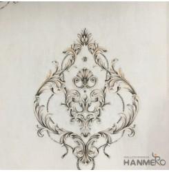 Hanmero Home Decoration Grey Floral European Vinyl Embossed Wallpaper 0.53*10M/R...