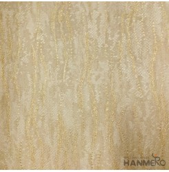 Hanmero Home Decoration Gold Simple Plain Color Modern Vinyl Embossed Wallpaper...