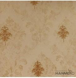 Hanmero Home Decoration Brown Floral European Vinyl Embossed Wallpaper 0.53*10M/...