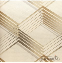 HANMERO 3D PVC Modern Yellow Wallpaper Geometric 0.53*10M/Roll For Home Room Dec...