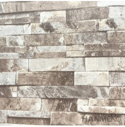 HANMERO 3D PVC Modern Brown Wallpaper Brick 0.53*10M/Roll For Home Room Decor