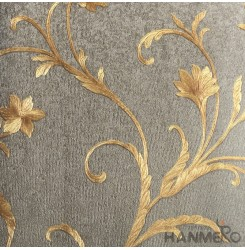 HANMERO European Vinyl Emossedb Floral Brown Wallpaper For Bedding Living Room