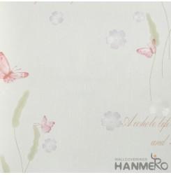 HANMERO European Vinyl Embossed Floral Pink Wallpaper For Bedding Living Room