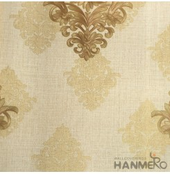 HANMERO European Vinyl Embossed Floral Yellow Wallpaper For Bedding Living Room