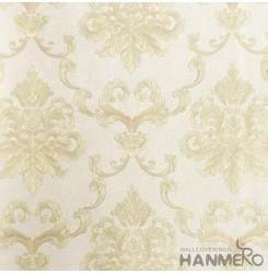 HANMERO European Vinyl Embossed Floral Yellow Wallpaper For Bedding Living Room