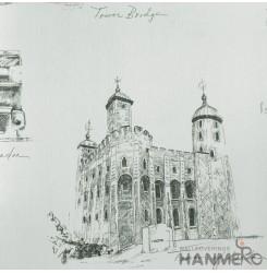 HANMERO European Vinyl Embossed Building White Wallpaper For Bedding Living Room