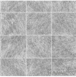 HANMERO PVC Plaids Grey Modern Embossed Wallpaper 0.53*10M/Roll For Interior Roo...