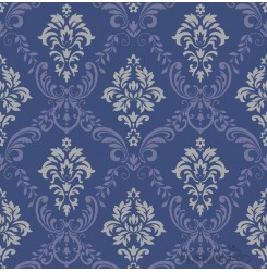 HANMERO PVC Floral Blue European Embossed Wallpape 0.53*10M/Roll For Interior Ro...