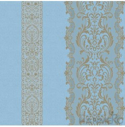 HANMERO PVC Floral Blue European Embossed Wallpaper 0.53*10M/Roll For Interior R...