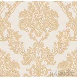 HANMERO PVC Floral Yellow European Embossed Wallpape 0.53*10M/Roll For Interior ...
