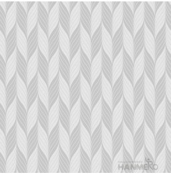 HANMERO PVC Leaf Silver Modern Embossed Wallpaper 0.53*10M/Roll For Interior Roo...
