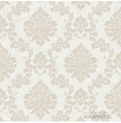 HANMERO PVC Floral Beige European Embossed Wallpaper 0.53*10M/Roll For Interior ...