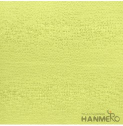 HANMERO Modern 0.53*10M/Roll PVC Wallpaper With Bright Yellow Solid Embossed Sur...