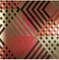 HANMERO PVC Modern Geometric Multi Color Metallic Wallpaper For Interior Wall De...