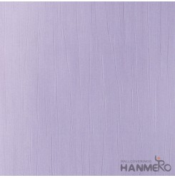 HANMERO Modern Embossed Light Purple Vinyl Wallpaper With Solid For Interior Wal...