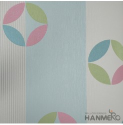 HANMERO Modern Embossed Multicolor Vinyl Wallpaper With Geometric For Interior W...