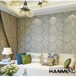 HANMERO Modern Style Waterproof Plant Fiber Particle Wallpaper Factory Supplier ...
