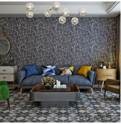 HANMERO High-end Household Decor Plant Fiber Particle Wallpaper with Beautiful ...