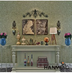 HANMERO Best Selling Economical Non-woven Paper Base Mica Wallpaper for TV Backg...