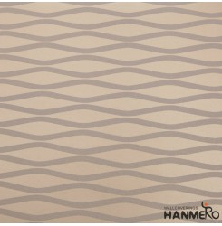 HANMERO 20.86inches by 393.7inches Long Murals European Dynamic Curve Pattern Scrubbable Nonwoven Modern Minimalist Living Room Wallpaper Roll Decor Champagne