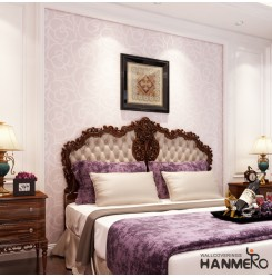 HANMERO European Fashion High-grade Big Rose Flower Pattern Embossed Flocking No...