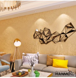 HANMERO Eco-Friendly Golden Leaf Pattern Modern Removable Wallpaper