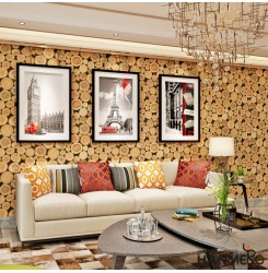 HANMERO Soundproof Wood 3D Wallpaper Home Vinyl
