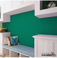 HANMERO Grind Arenaceous Green Solid Color Peel and Stick Wallpaper